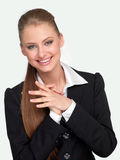 Woman manager in a suit stock images