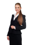 Woman manager in a suit royalty free stock image