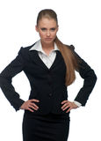 Woman manager in a suit Stock Photo