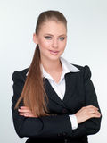 Woman manager in a suit Stock Photos