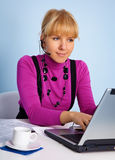 Woman - manager support service Stock Photo