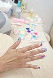 Woman manicured hand Royalty Free Stock Image