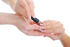 Woman manicures Stock Images