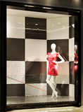 woman mannequin in fashion shop window Royalty Free Stock Images