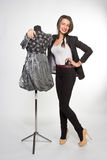 Woman with mannequin Stock Photography