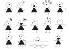 Woman manner sign cartoon Stock Photo