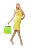 Woman with many shopping bags Royalty Free Stock Photos