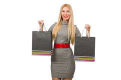 Woman with many shopping bags Stock Photography