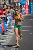 Woman marathon runner Royalty Free Stock Image