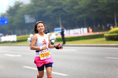 Woman marathon runner Royalty Free Stock Photos