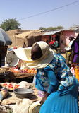 A woman on a market in Farcha, N'Djamena, Chad Royalty Free Stock Images