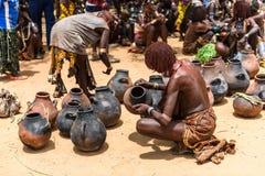 Woman at the market of Turmi, Ethiopia Stock Image