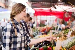 Woman at market Stock Image
