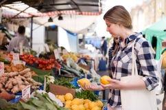 Woman at market Stock Photos