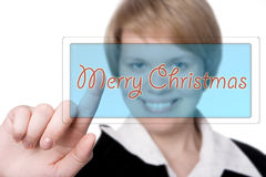 Woman marry christmas Stock Images