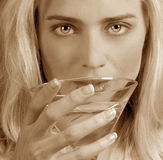 Woman with a Martini Stock Image