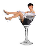 Woman in Martini Glass Stock Photography