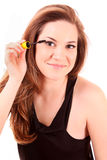 woman and mascara Royalty Free Stock Images