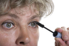 Woman with mascara close up Royalty Free Stock Photos
