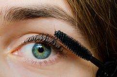 Woman with mascara Stock Image