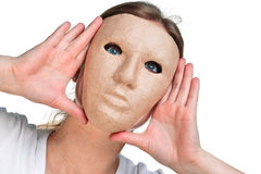 Woman in a mask Stock Photography