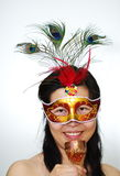 Woman in mask Stock Photography