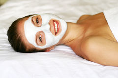 Woman in mask Stock Photo