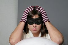 Woman mask Stock Image