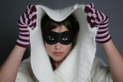 Woman mask Stock Images