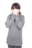 Woman with mask. Young adult woman with medic mask Royalty Free Stock Photography