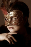 Woman with mask Royalty Free Stock Photography