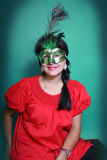 A woman in a mask Royalty Free Stock Photography