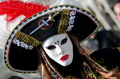 Woman with mask. At carnival of venice Royalty Free Stock Photography