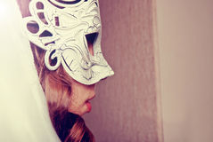 Woman in mask royalty free stock photo