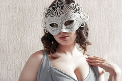 Woman in mask Royalty Free Stock Photography