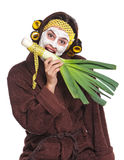 Woman with a mask Stock Photo