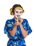 Woman with a mask Stock Images