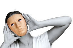 Woman in a mask Royalty Free Stock Images