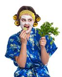 Woman with a mask Stock Image