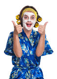 Woman with a mask Royalty Free Stock Photography