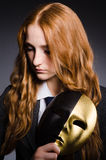 Woman with mask Stock Photos
