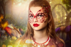 Woman with mask. Stock Photography