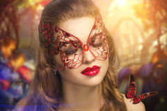Woman with mask. Stock Image
