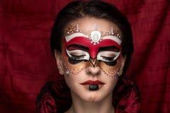 Woman mask make up Royalty Free Stock Photography
