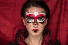 Woman mask make up Stock Photo