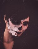 Woman with mask portrait Stock Photos