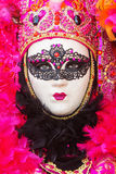Woman with mask at Venetian Carnival Royalty Free Stock Images