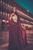 Woman with a mask in Venice Stock Photos