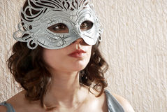 Woman in masquerade mask Stock Photos