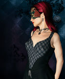 Woman with masquerade mask Royalty Free Stock Images